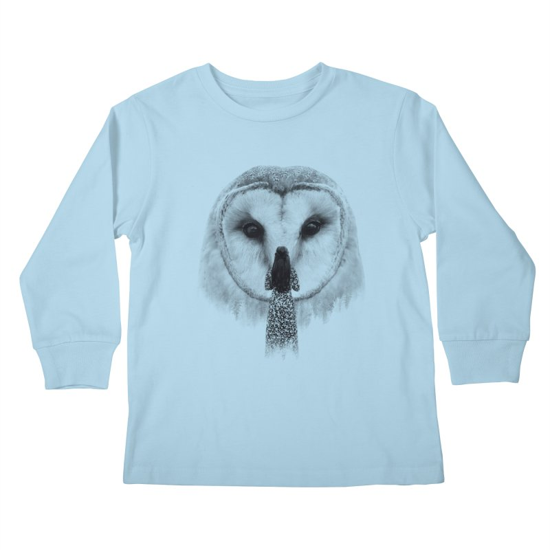 Nocturnal Friend Kids Longsleeve T-Shirt by Buko