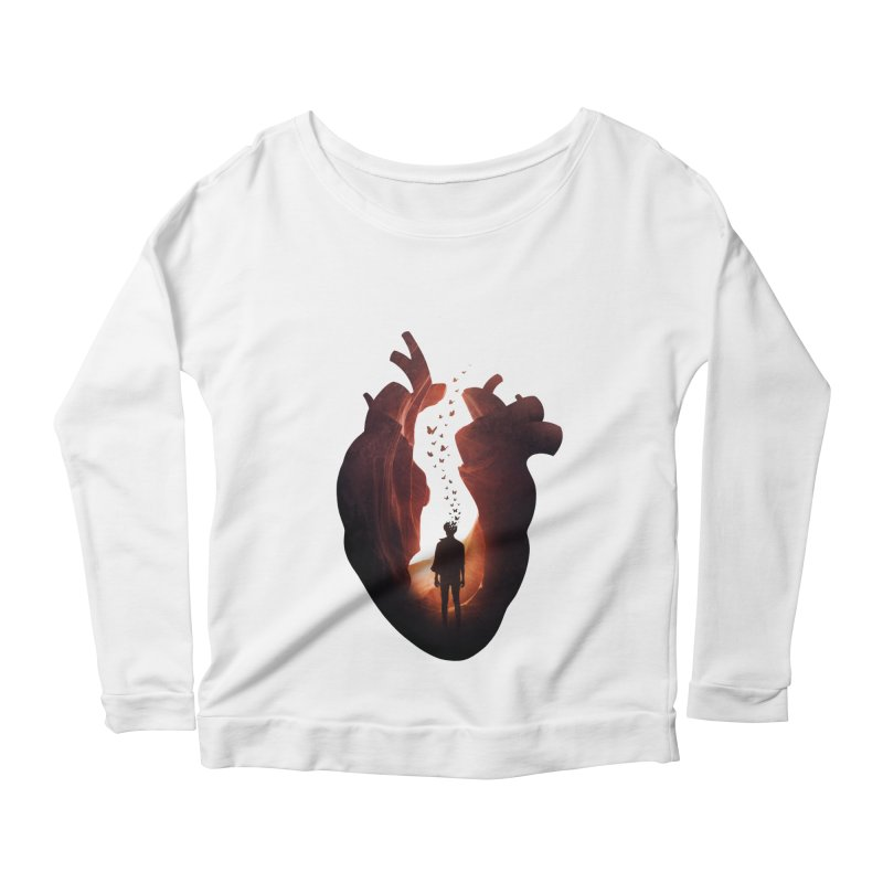 Flickering Soul Women's Longsleeve Scoopneck  by Buko