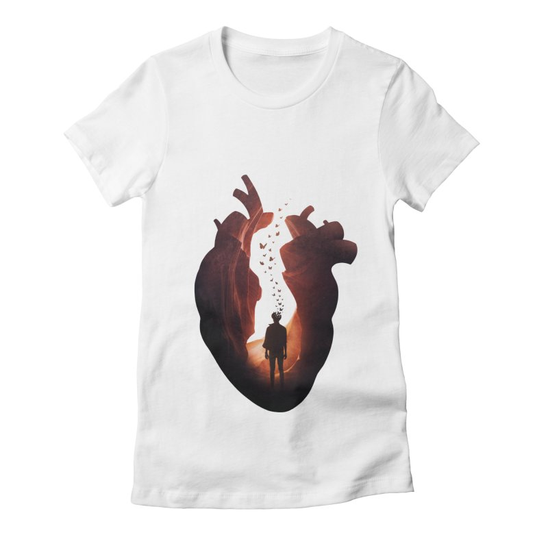 Flickering Soul Women's Fitted T-Shirt by Buko