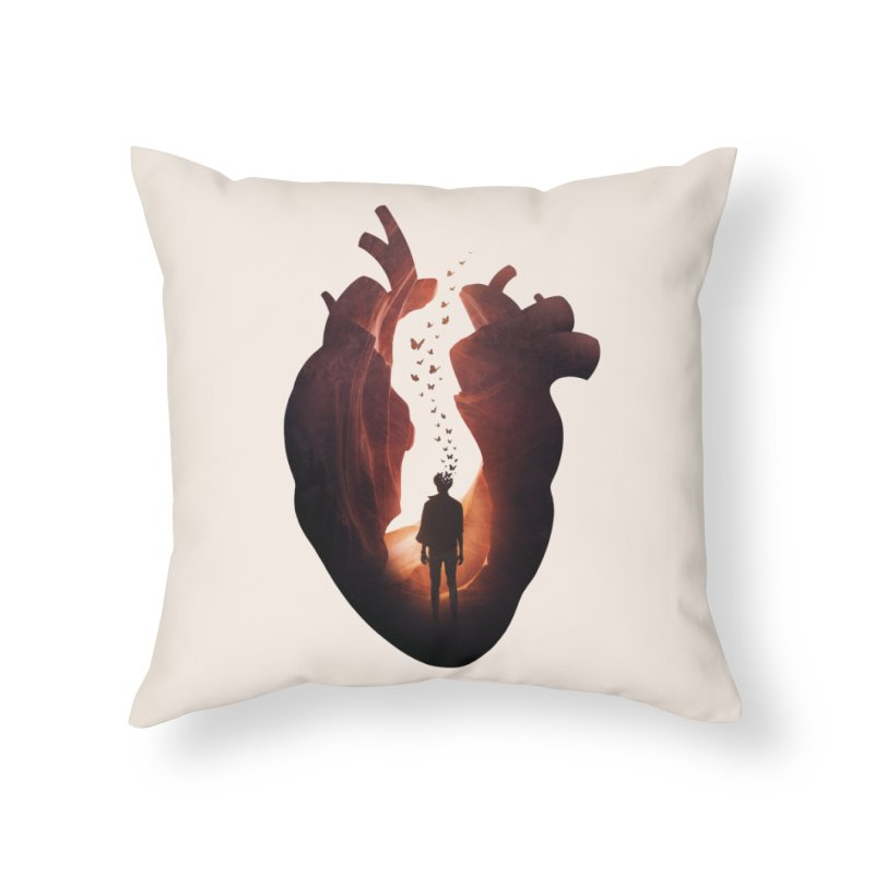 Flickering Soul Home Throw Pillow by Buko