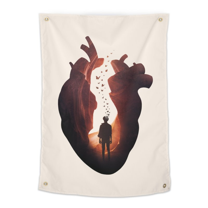 Flickering Soul Home Tapestry by Buko