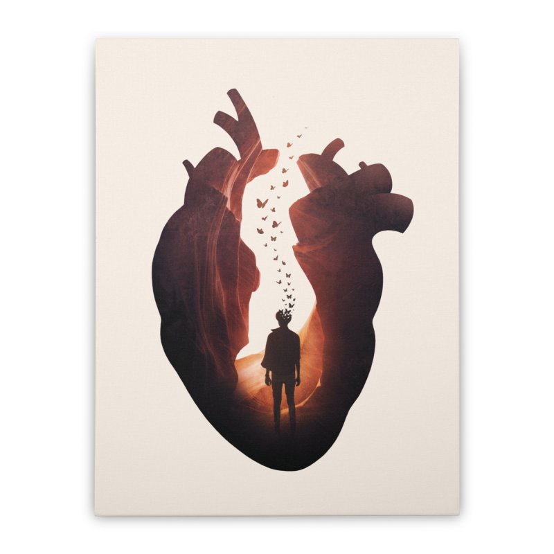 Flickering Soul Home Stretched Canvas by Buko