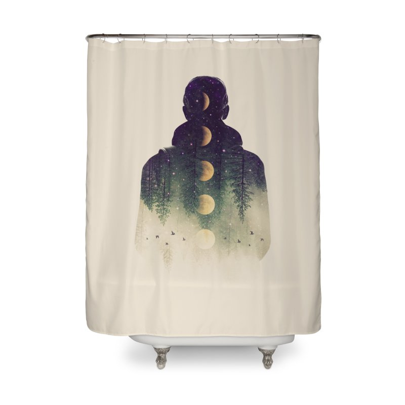 Night Air Home Shower Curtain by Buko