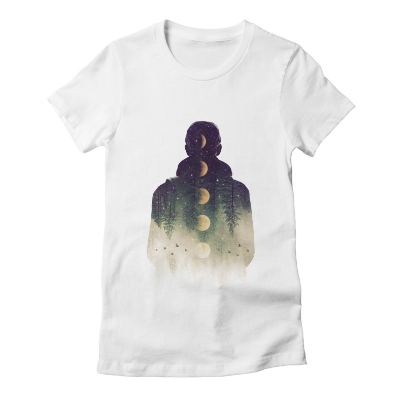 Night Air Women's Fitted T-Shirt by Buko