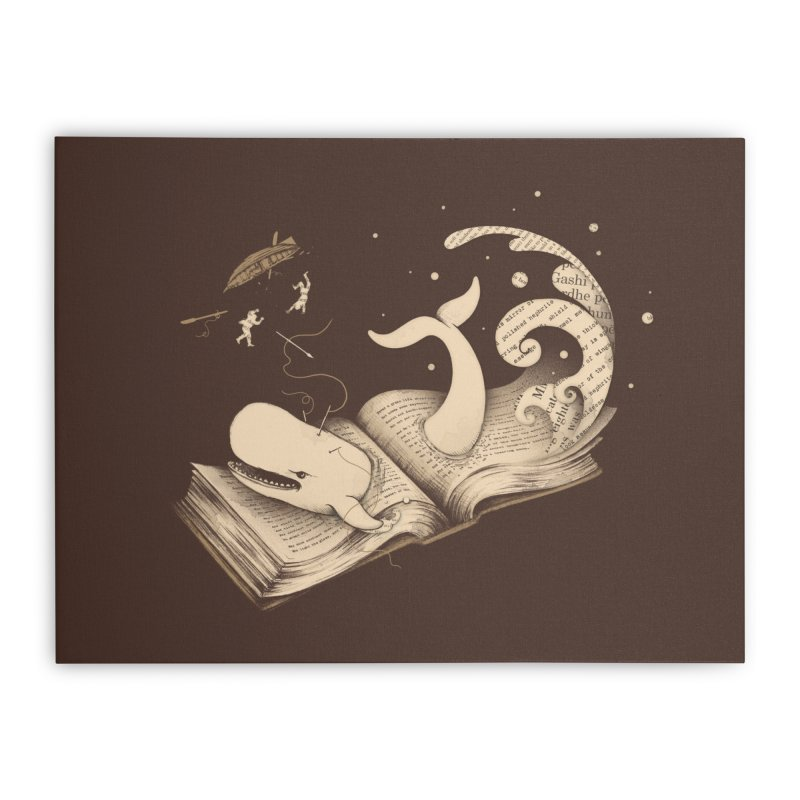 Moby Home Stretched Canvas by Buko