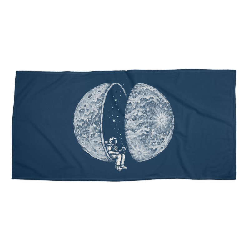 Chilling in Space Accessories Beach Towel by Buko