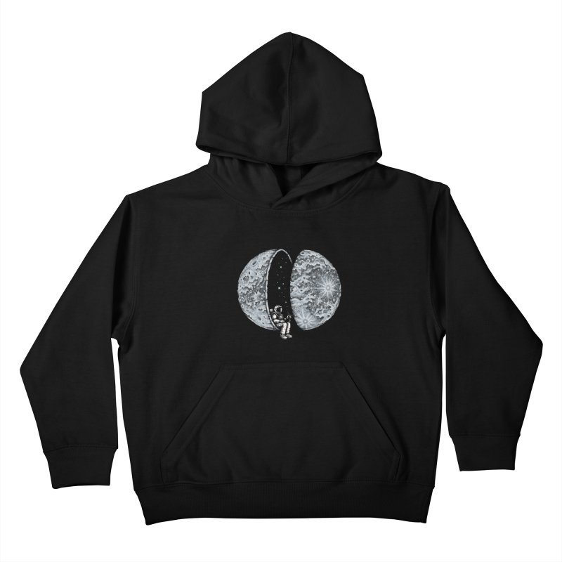 Chilling in Space Kids Pullover Hoody by Buko
