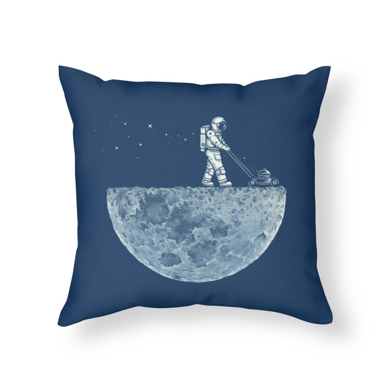 Mown Home Throw Pillow by Buko