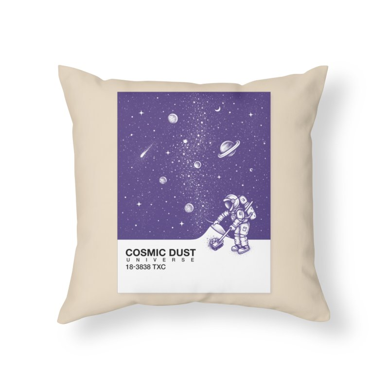 Cosmic Dust Home Throw Pillow by Buko