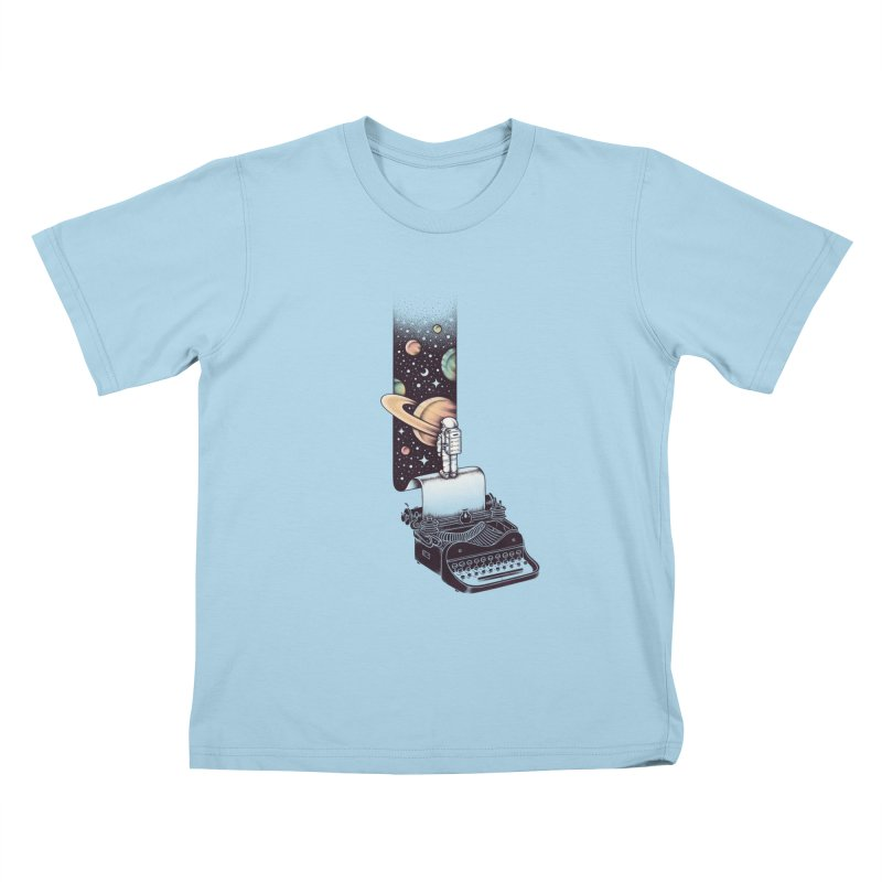 Beyond Your Imagination Kids T-Shirt by Buko
