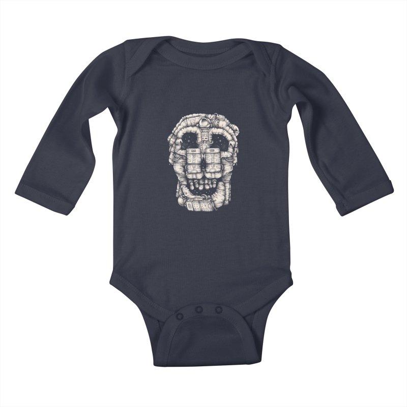 Voluptuous Death Kids Baby Longsleeve Bodysuit by Buko