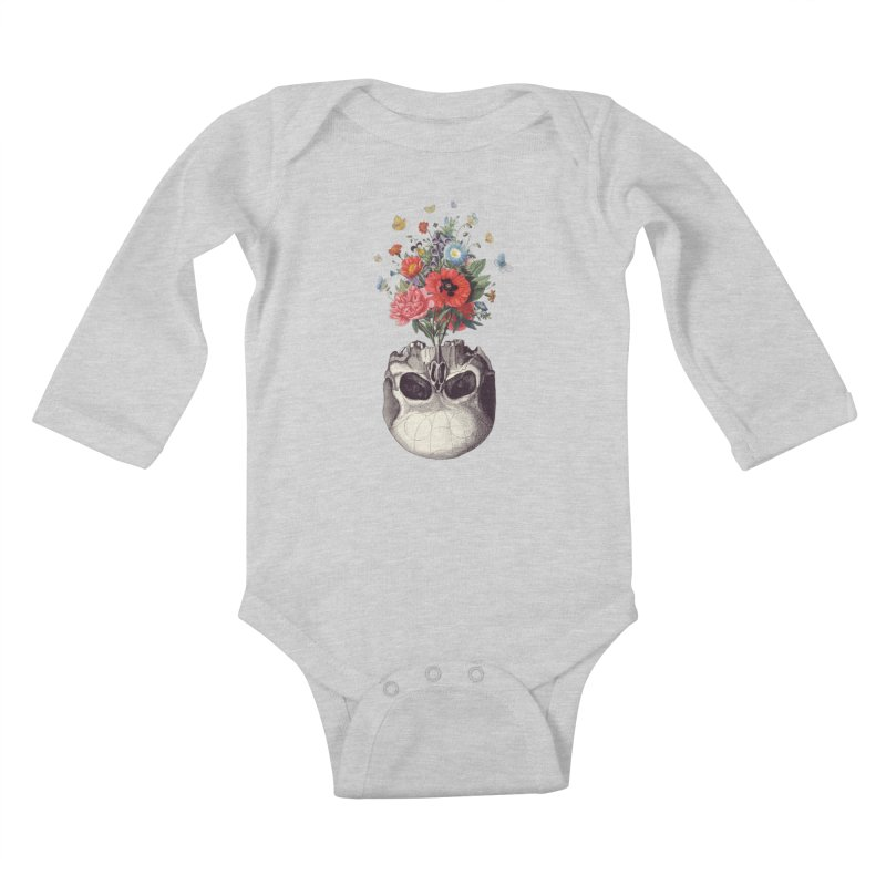 Memento Mori Kids Baby Longsleeve Bodysuit by Buko