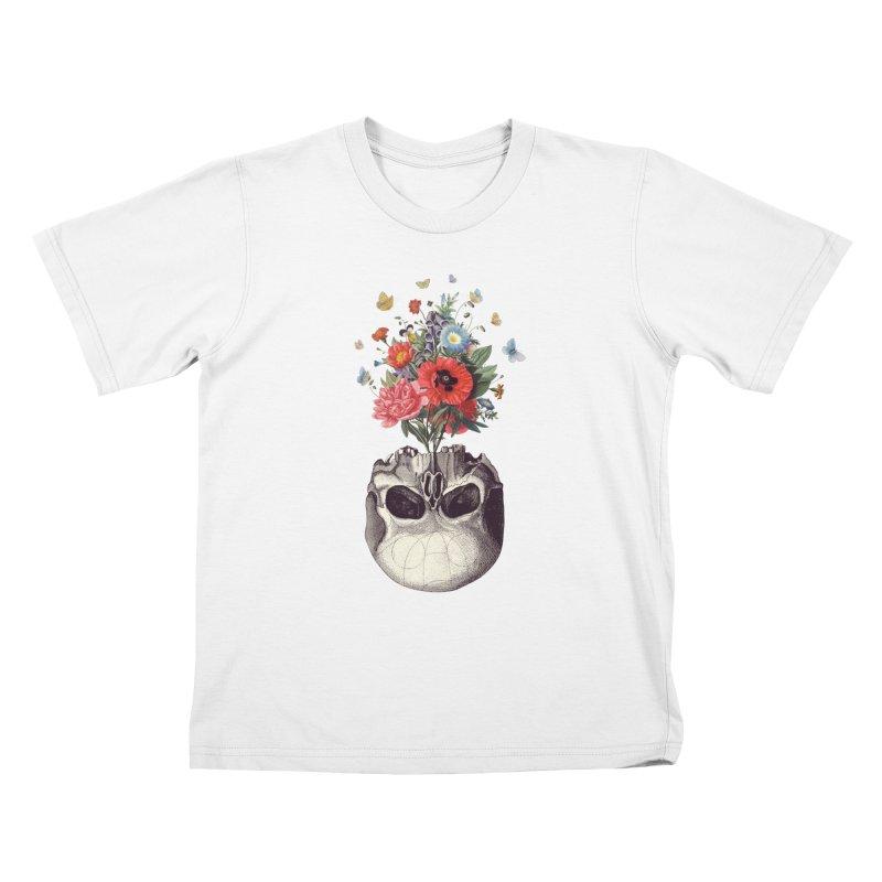 Memento Mori Kids T-Shirt by Buko