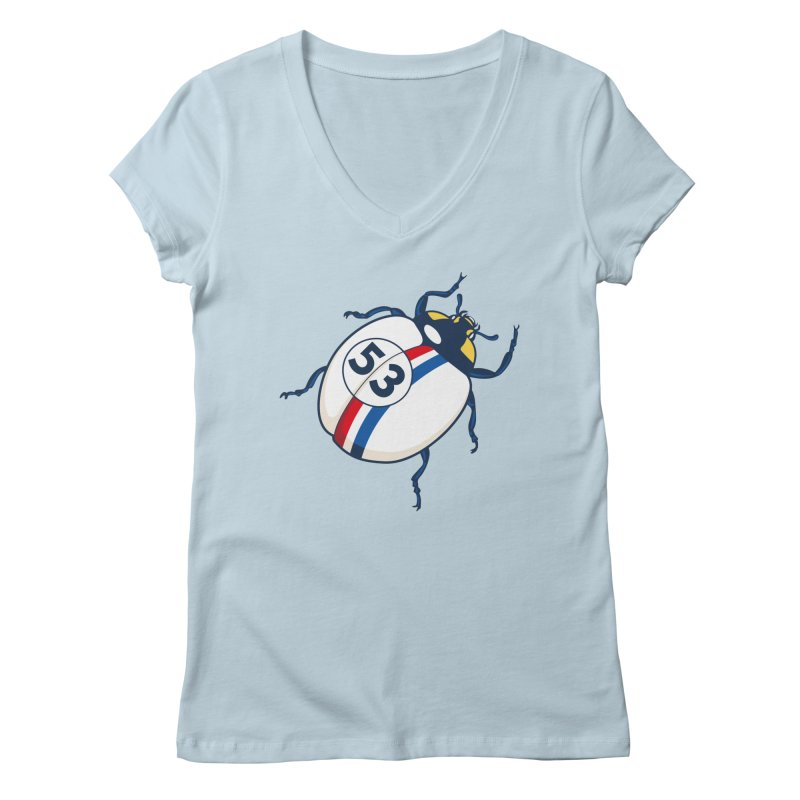 The Love Bug Women's V-Neck by The Bulgrin Shop