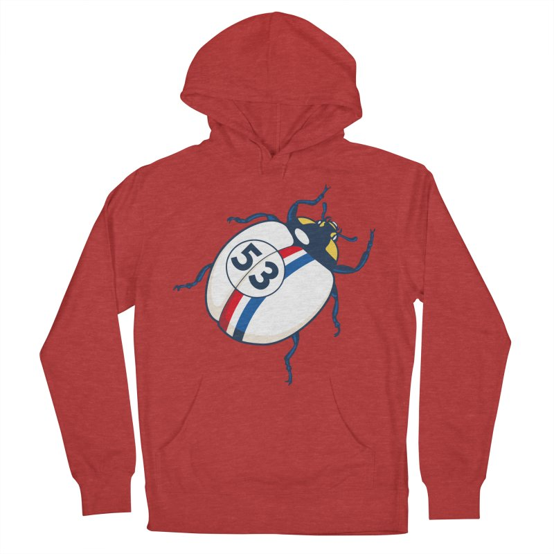 The Love Bug Men's French Terry Pullover Hoody by The Bulgrin Shop