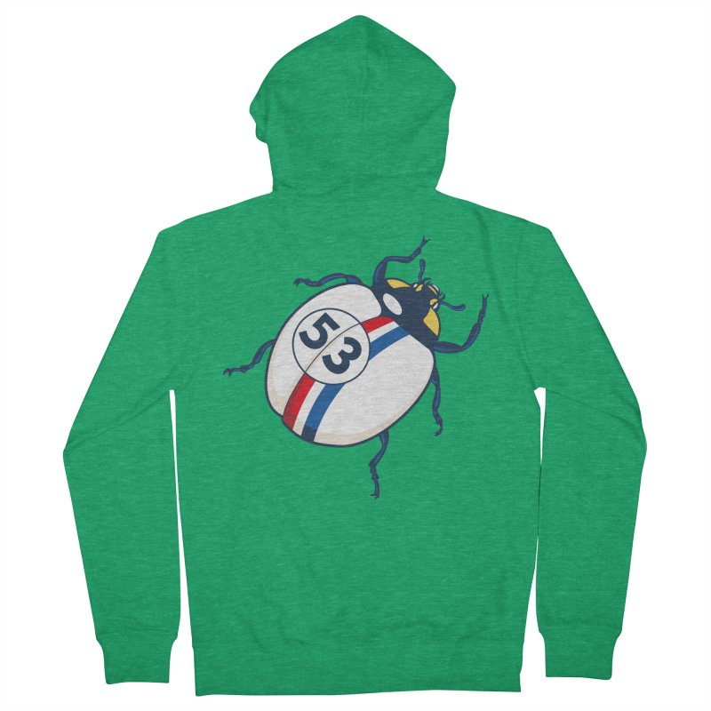 The Love Bug Men's French Terry Zip-Up Hoody by The Bulgrin Shop