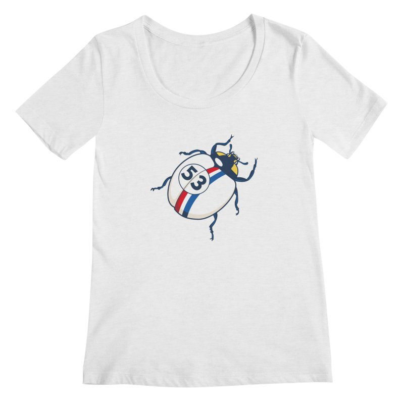The Love Bug Women's Regular Scoop Neck by The Bulgrin Shop