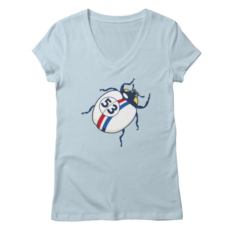 The Love Bug Women's Regular V-Neck by The Bulgrin Shop