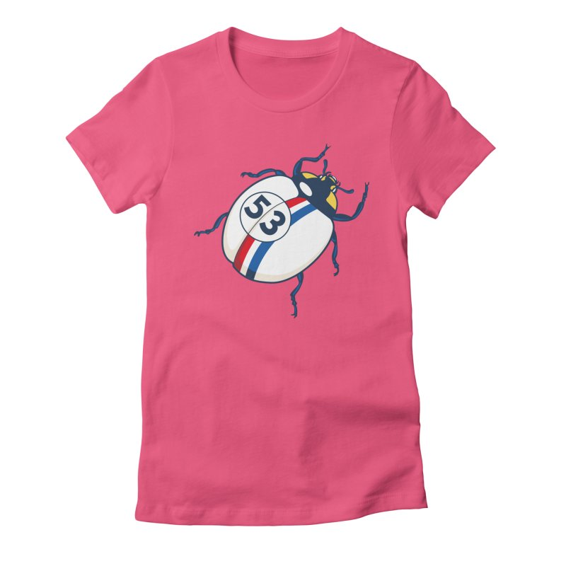 The Love Bug Women's Fitted T-Shirt by The Bulgrin Shop