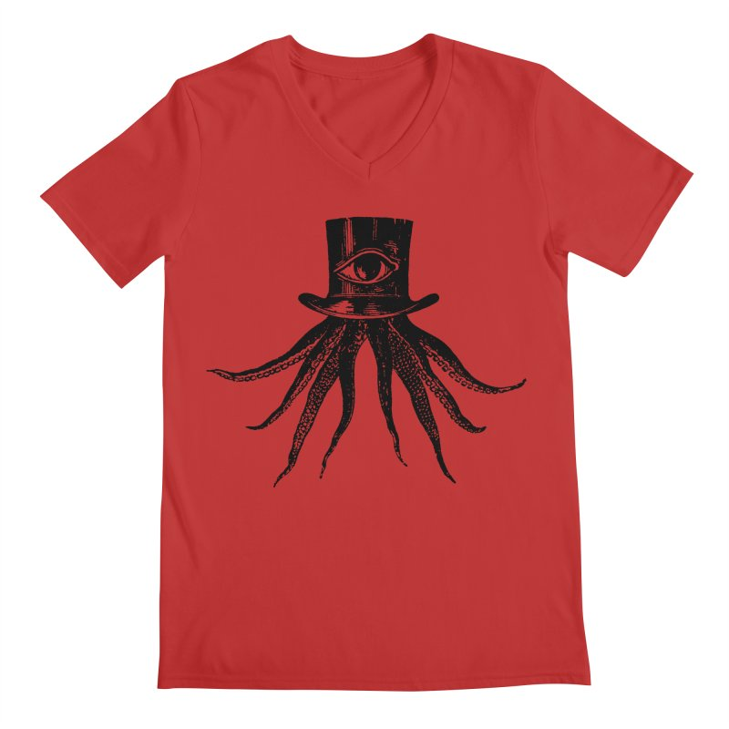 Octopus Men's Regular V-Neck by The Bulgrin Shop