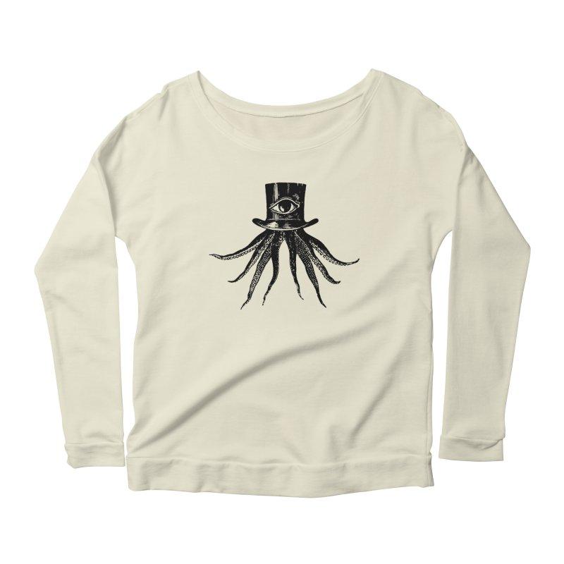 Octopus Women's Longsleeve Scoopneck  by The Bulgrin Shop