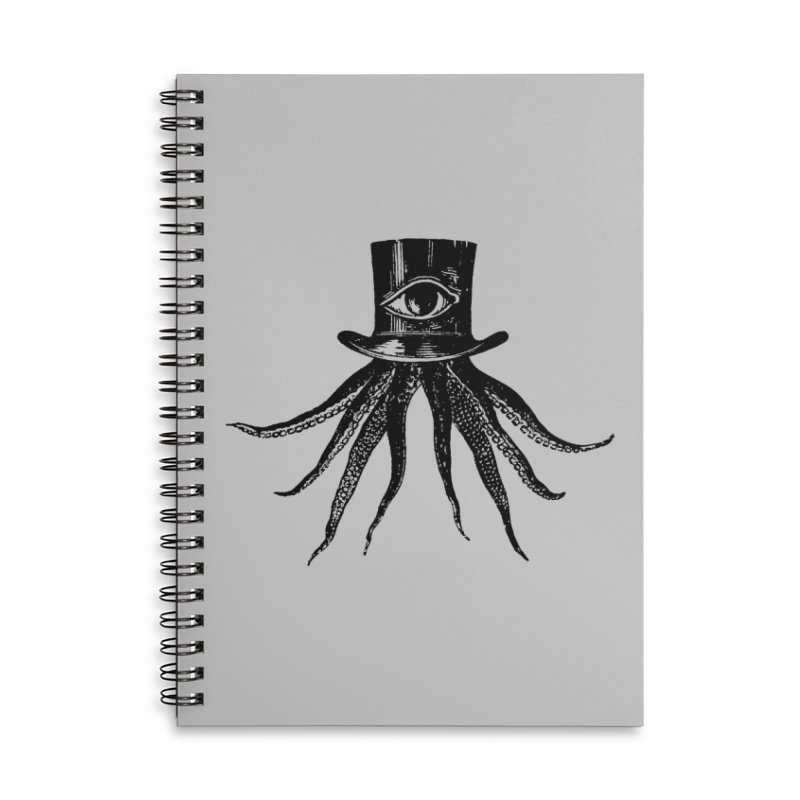 Octopus Accessories Lined Spiral Notebook by The Bulgrin Shop