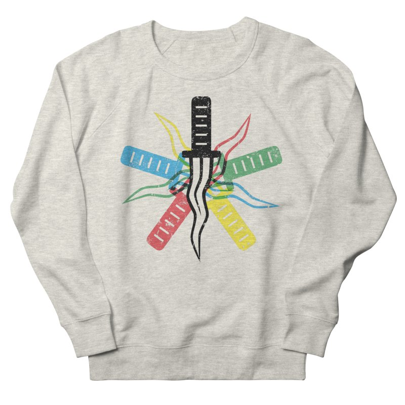 Five Knives Women's French Terry Sweatshirt by The Bulgrin Shop
