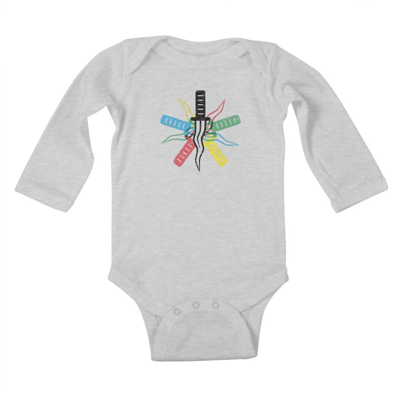 Five Knives Kids Baby Longsleeve Bodysuit by The Bulgrin Shop