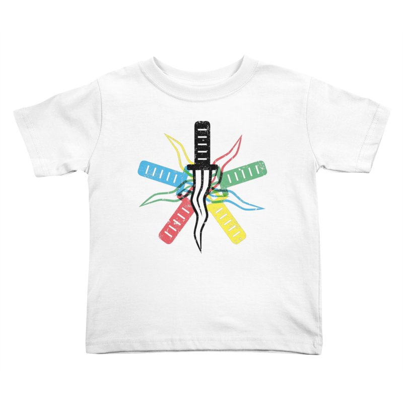 Five Knives Kids Toddler T-Shirt by The Bulgrin Shop