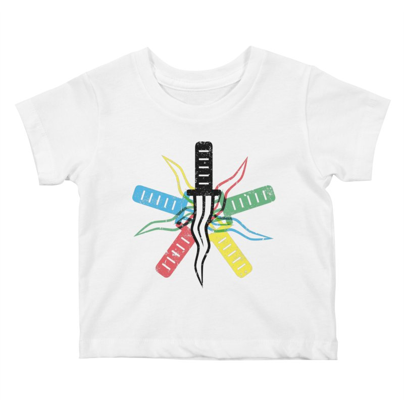 Five Knives Kids Baby T-Shirt by The Bulgrin Shop