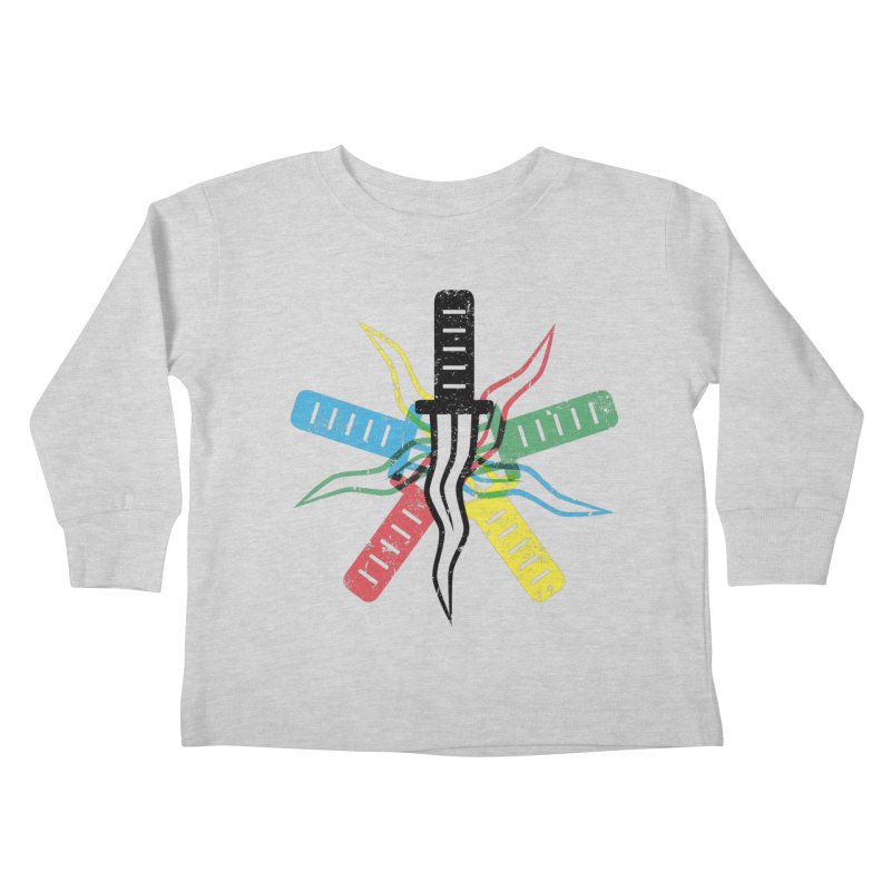 Five Knives Kids Toddler Longsleeve T-Shirt by The Bulgrin Shop