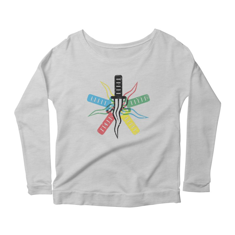 Five Knives Women's Scoop Neck Longsleeve T-Shirt by The Bulgrin Shop