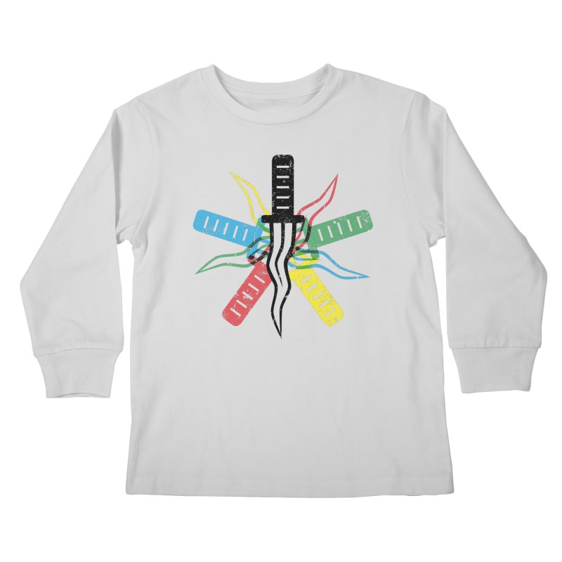 Five Knives Kids Longsleeve T-Shirt by The Bulgrin Shop