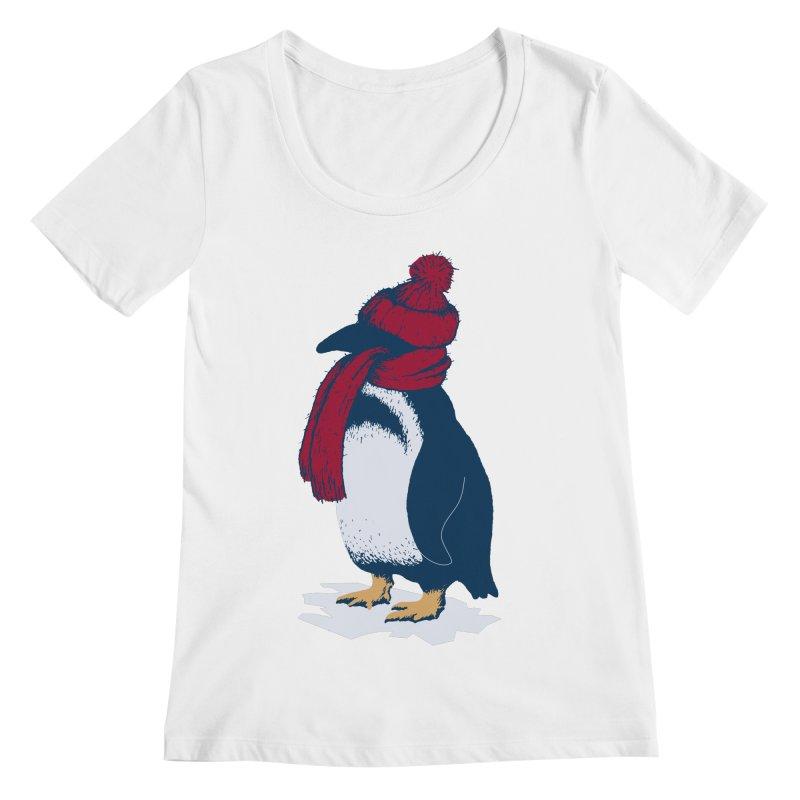 The Penguin has a cold Women's Scoopneck by The Bulgrin Shop
