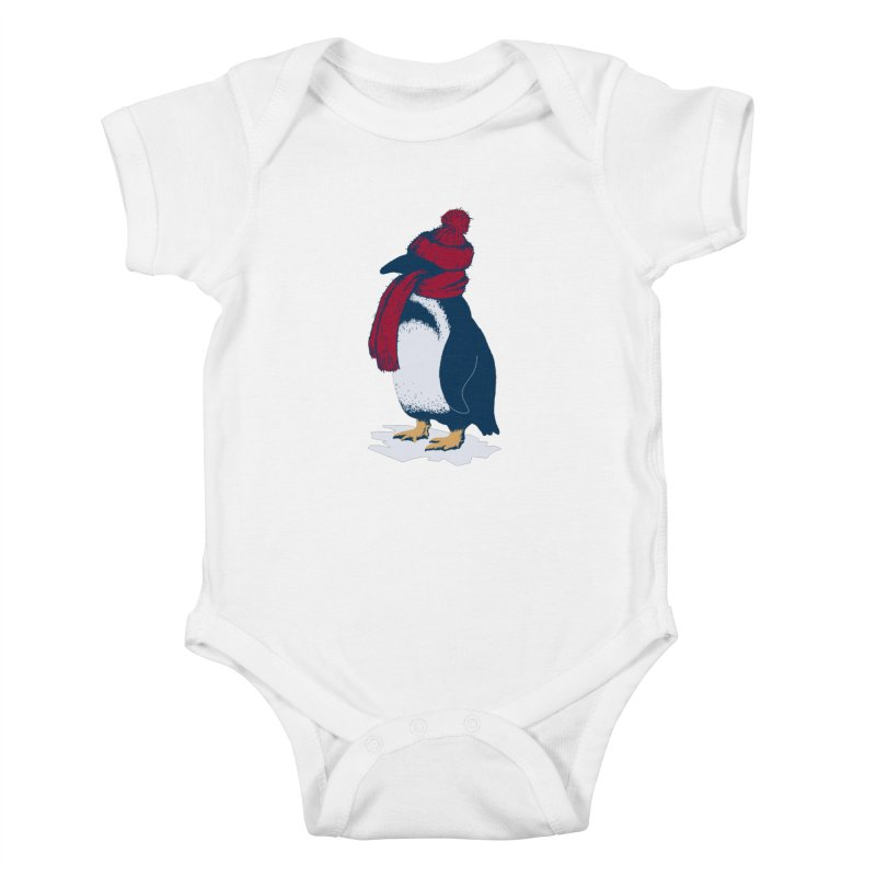 The Penguin has a cold Kids Baby Bodysuit by The Bulgrin Shop