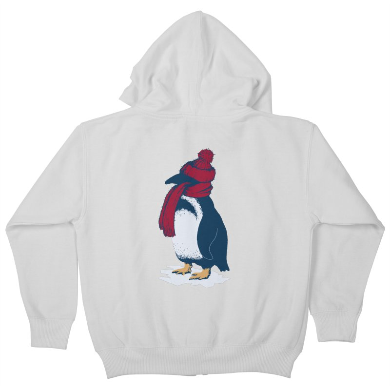 The Penguin has a cold Kids Zip-Up Hoody by The Bulgrin Shop