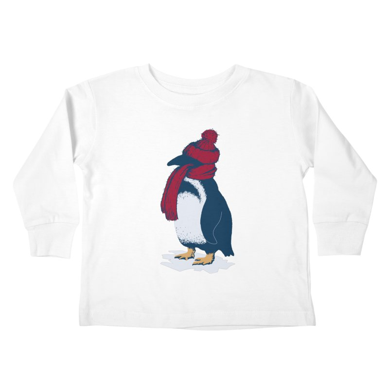 The Penguin has a cold Kids Toddler Longsleeve T-Shirt by The Bulgrin Shop