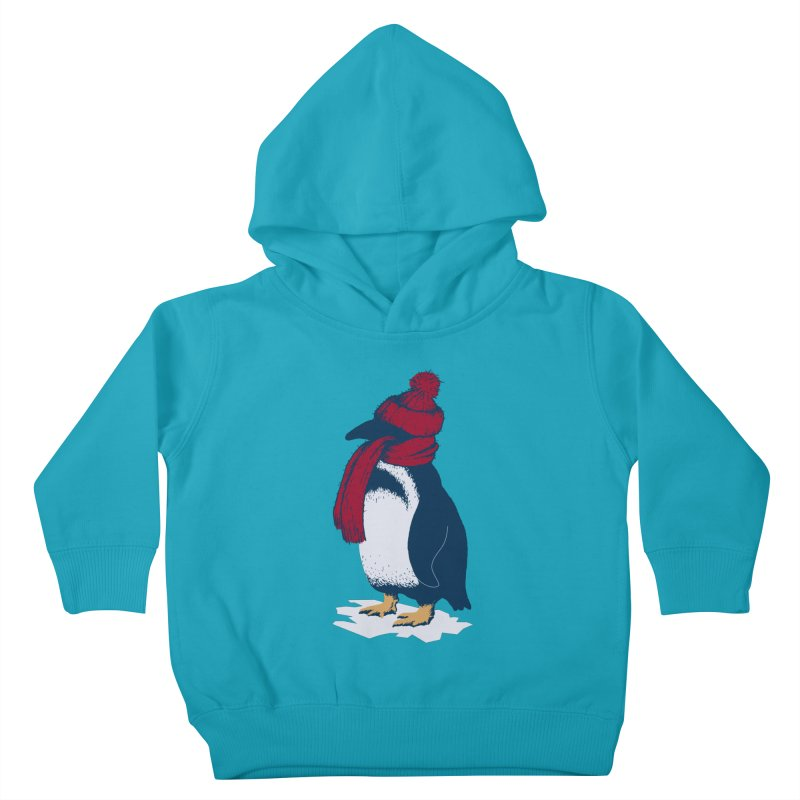 The Penguin has a cold Kids Toddler Pullover Hoody by The Bulgrin Shop