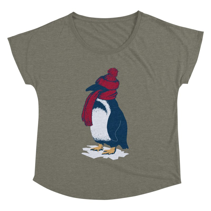 The Penguin has a cold Women's Dolman Scoop Neck by The Bulgrin Shop