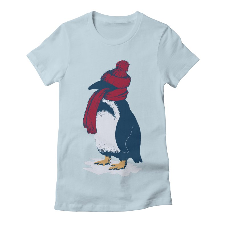 The Penguin has a cold Women's Fitted T-Shirt by The Bulgrin Shop
