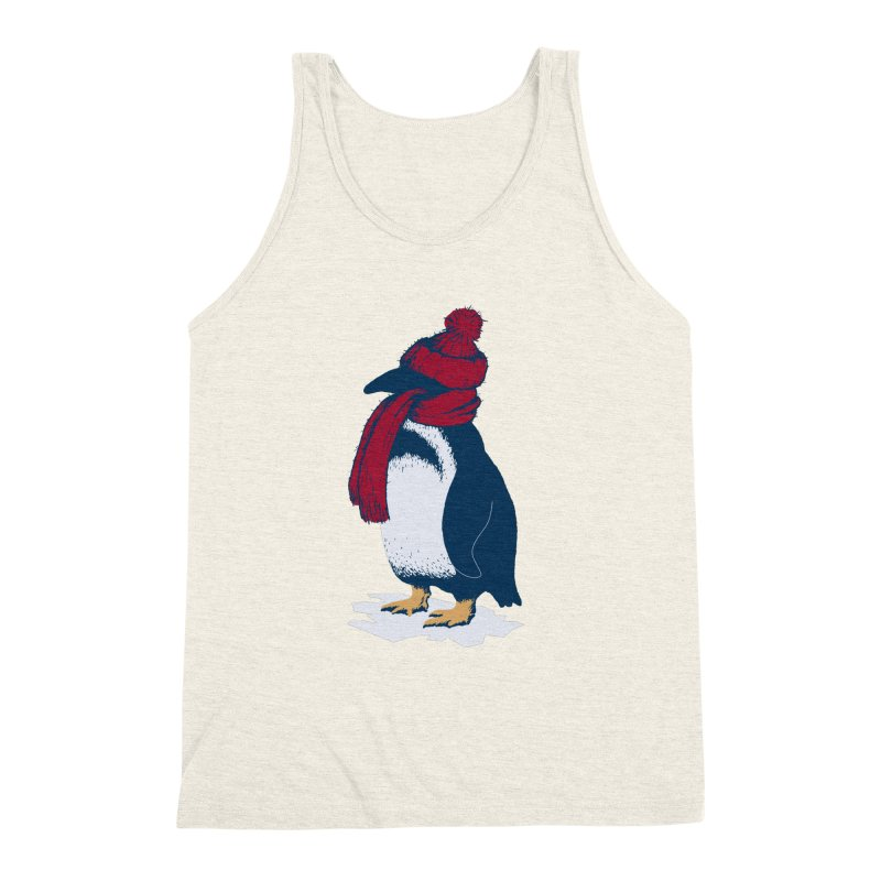 The Penguin has a cold Men's Triblend Tank by The Bulgrin Shop