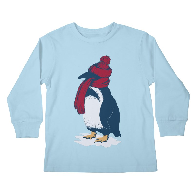 The Penguin has a cold Kids Longsleeve T-Shirt by The Bulgrin Shop