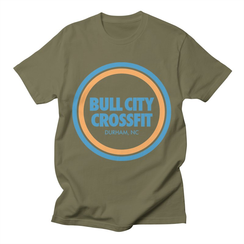 Bull City Logo (Neon Blue) Men's Regular T-Shirt by Bull City CrossFit