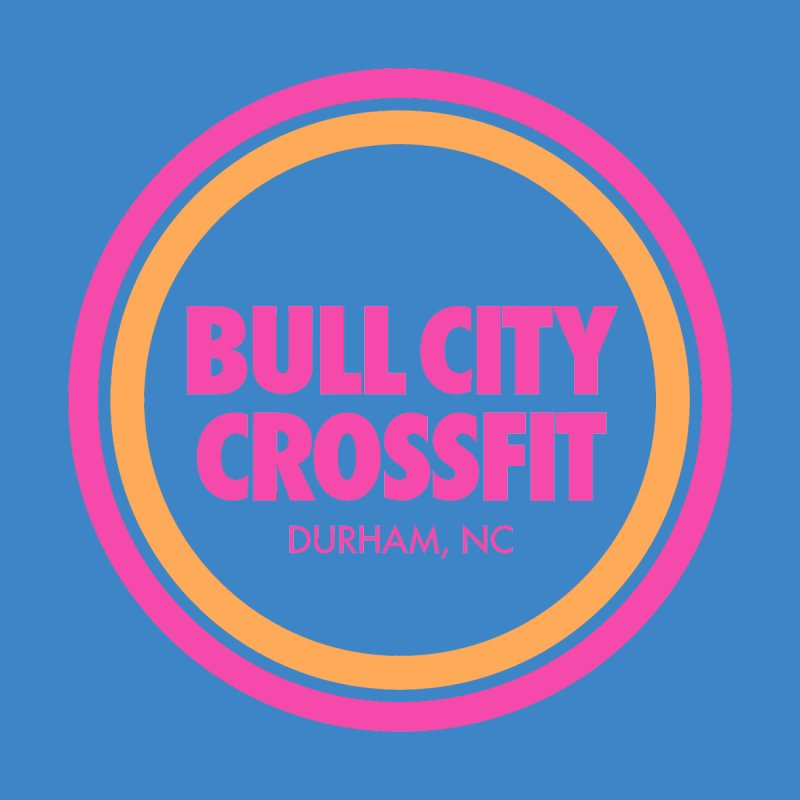 Bull City Logo (Neon Pink) Men's T-Shirt by Bull City CrossFit