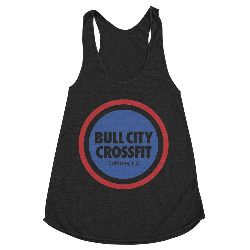 Bull City Logo (Red, White and Blue) Women's Racerback Triblend Tank by Bull City CrossFit