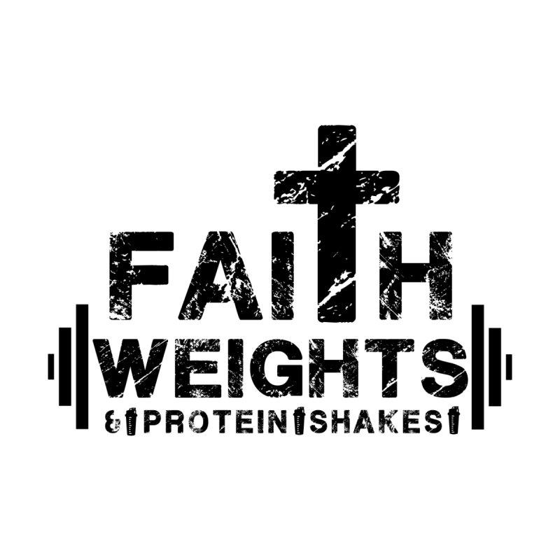 Faith Weights Protein Shakes Christian Fitness Gym Rug Bullquack Apparel