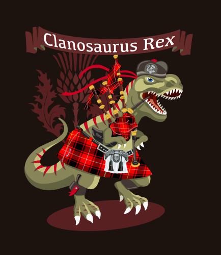 Clanosaurus-Rex-Tartan-Family-Shirts