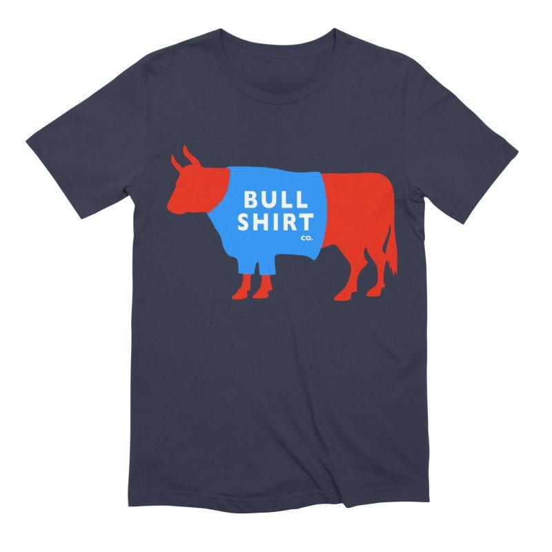 Bull Shirt Co! Serious Shirt for Fancy Folks. in Men's Extra Soft T-Shirt Navy by BullShirtCo