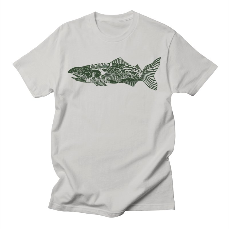 Magic Trout! Catch All kinds of extra stuff with this guy. in Men's Regular T-Shirt Stone by BullShirtCo