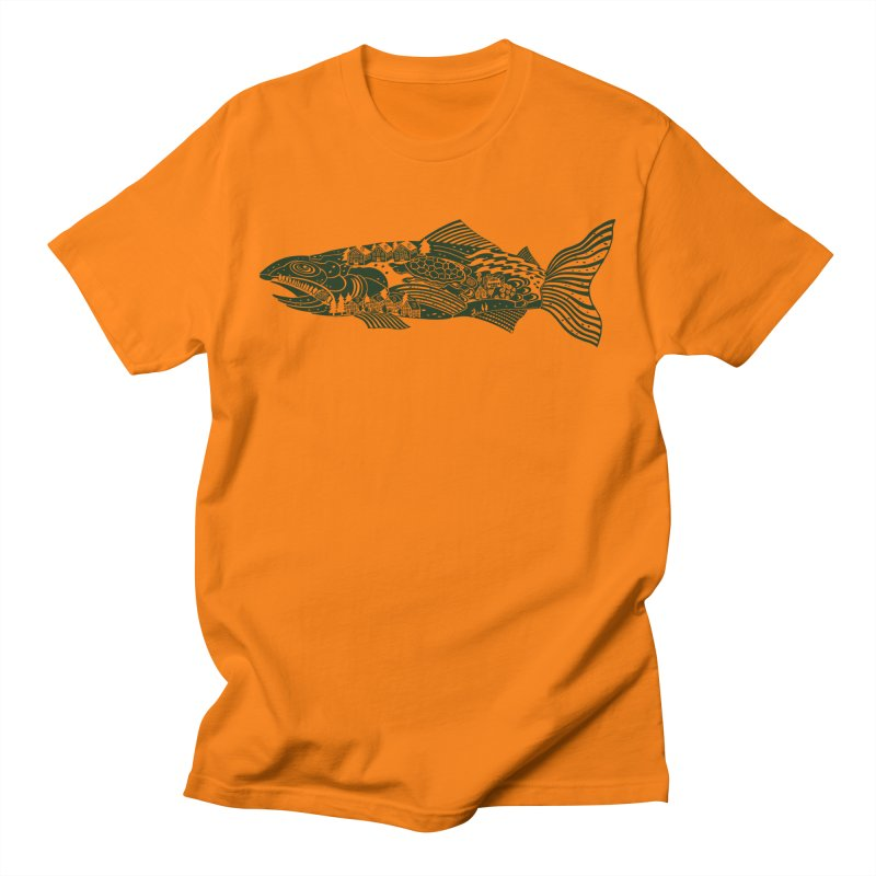 Magic Trout! Catch All kinds of extra stuff with this guy. in Men's Regular T-Shirt Orange by BullShirtCo